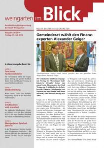 Ausgabe 28/2014 - Freitag, 25.07.2014 (1,9 MB)