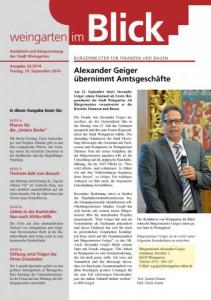 Ausgabe 31/2014 - Freitag, 19.09.2014 (1,7 MB)