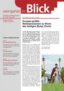 Ausgabe 18/2015 - Freitag, 08.05.2015